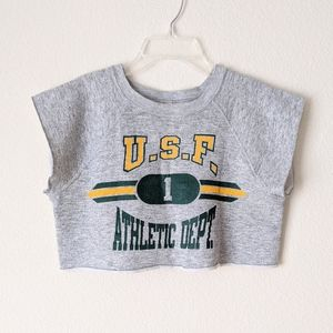 VINTAGE USF Athletic Dept. Crop Top M Casual